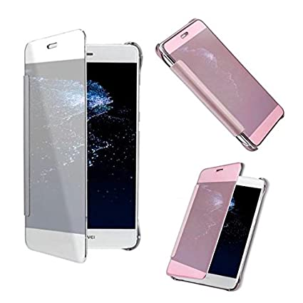 timeless design 9047c 68fe8 Amazon.com: For Huawei P8 lite Smart View Clear Mirror Screen Case ...