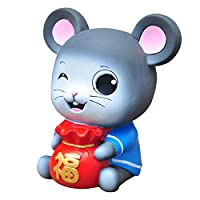 Hankyky 2020 New Year Money Bank Birthday Gifts Cartoon Animal Mouse Rat Coin Bank Shatterproof Piggy Bank Toy