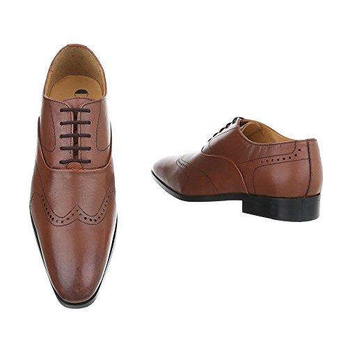 Camel Leder Blockabsatz Schnürer Business Stil Design Oxford Schnürsenkel Budapester Schuhe Ital Herrenschuhe HZPqPU