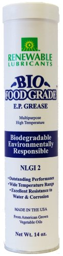 Renewable Lubricants Bio-Food Grade EP NLGI 2 Grease, 14 oz - Food Grease