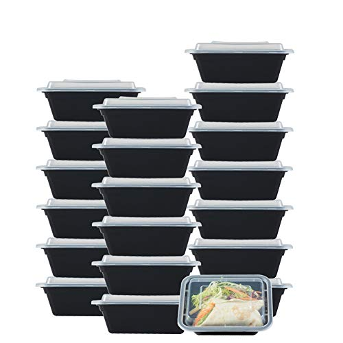 (NutriBox [20 value pack] single one compartment 12oz mini Meal Prep Food Storage Containers - BPA Free Reusable Lunch bento Box with Lids - Spill proof, Microwave, Dishwasher and Freezer Safe)