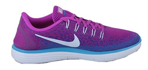 Nike Free Run Avstand Womens Hyper Volt / Lilla / Blå Kjører Joggesko