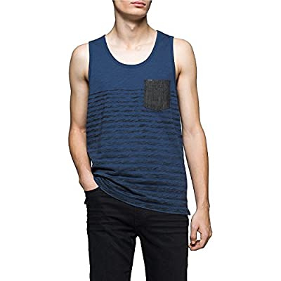 Calvin Klein Jeans Men's Denim Pocket Stripe Tank Top