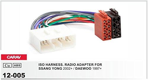 Carav 12-005Auto Radio ISO cable adaptador para Ssangyong de Daewoo