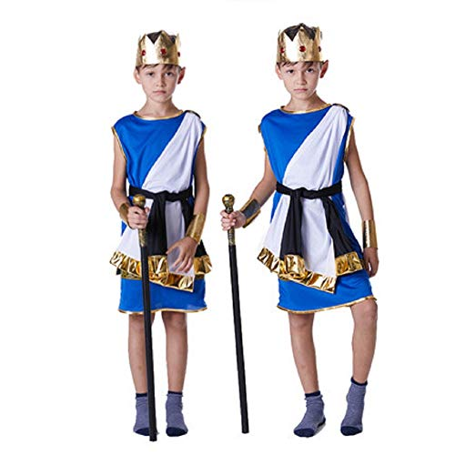 Mocona Costumes of Greek god Zeus for Halloween Children