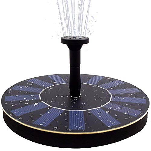 COSSCCI Solar Fountain Pump Bird Bath,1.4w Portable Submersible Free Standing Solar Outdoor Fountain for Small Pond, Patio Garden by COSSCCI