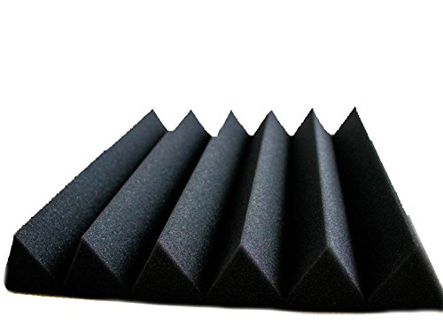 12 Pack - Acoustic Panels Studio Soundproofing Foam Wedge tiles 2''x12''x12'' by Wunderfunds