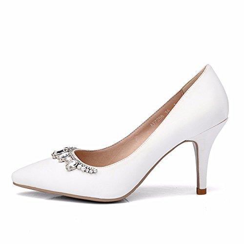 Seul Grande De Forage Mariée L'Eau Saison De Pour white La Chaussures Code De Femmes Cristal HXVU56546 Chaussures De Printemps Avec Chaussures D'Automne Et Chaussures De Soie apOfq