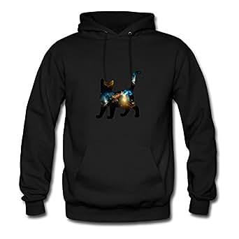 Celestial Cat 3 Sweatshirts Shirts X-large Women Customized Black