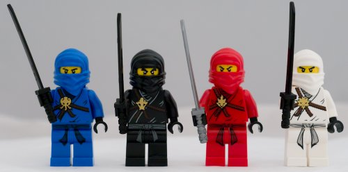 Lego Ninjago Set of 4 Ninjago Minifigures - Jay, Kai, Cole, Zane ()
