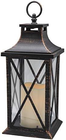 YAKii 14″ Decorative Candle Lantern LED Flameless Candle Timer