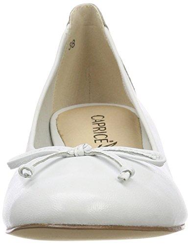 nappa Delle Caprice 22102 Ballerine Bianco Bianca Bianco 102 Donne qSBqanY6