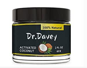 dr davey activated coconut charcoal teeth whitening powder pure natural tooth. Black Bedroom Furniture Sets. Home Design Ideas