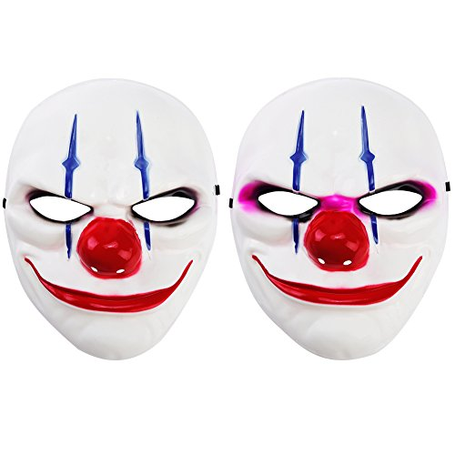 Vbiger Scary Masks Costume Mask Halloween Party Face For 2ps (Adult, (Scary Halloween Face)