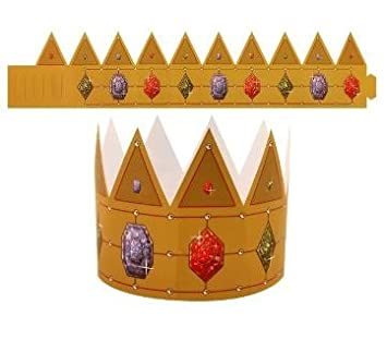 Christmas Paper Crown Party Hats Pack of 10