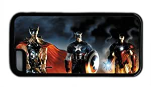 meilz aiaiThor Captain America Iron Man Iphone 5C Black Sides Rubber Shell Case by eeMusemeilz aiai
