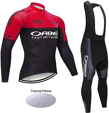 Wulibike Conjunto Bicicleta Largo Hombre Traje Btt Invierno Ropa Ciclismo Equipos Profesionales: Amazon.es: Deportes y aire libre