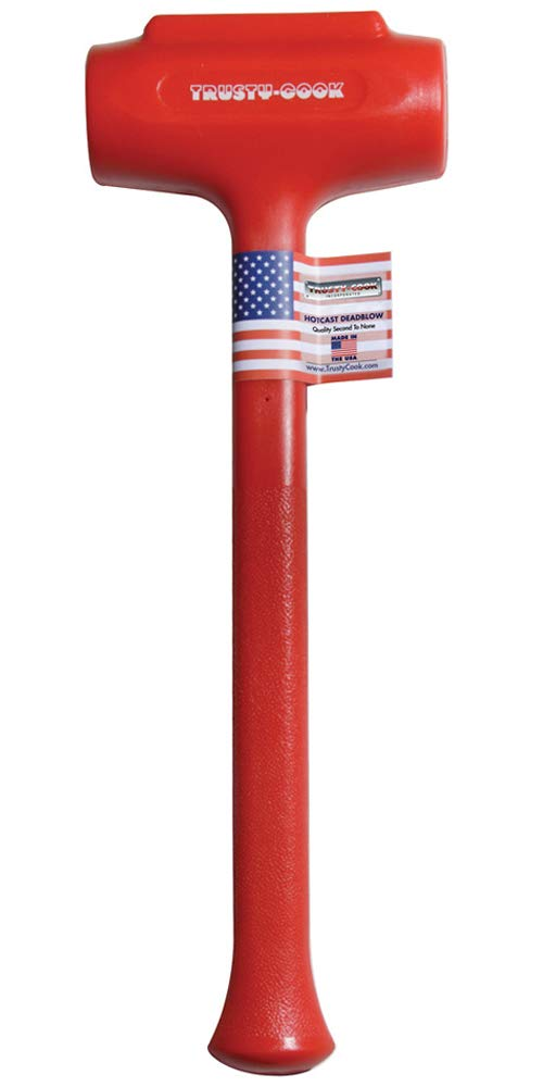 Trusty-Cook - Polyurethane Dead Blow Hammer (88 oz, Red)