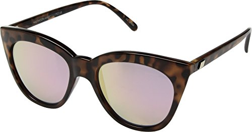 Le Specs Women's Halfmoon Magic Tortoise/Pink Mirror One - Le Specs Sunglasses