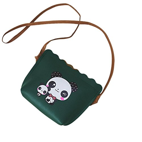 Messenger Bag,AfterSo Panda Print Ruched Handbag Crossbody Shoulder Bags (Size: 23cm/9.05