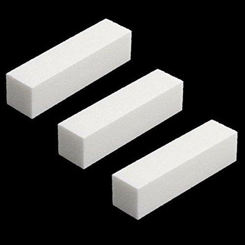 Brush Block (3 Pcs White Buffer Buffing Sanding Block File Manicure Pedicure For Nail Art)