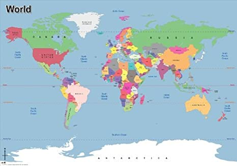 World Map Wallpaper ~ Simple World Map Outline With Countries Named ...
