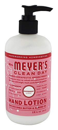 Mrs. Meyer's Clean Day Hand Lotion, 12 oz (Peppermint, Pack - 1) - Mint Hand Lotion