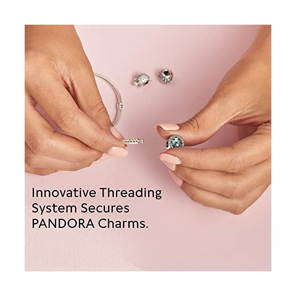 Pandora–Bracciale in Argento 925con zirconi Bianco 18cm 590727cz 18 5