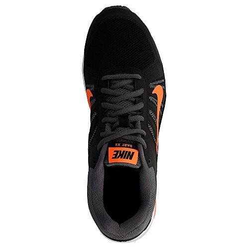 Chaussure De Course À Pied Nike Mens Dart Noir / Total Orange / Gris Foncé