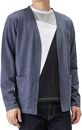 カーディガン 長袖 メンズ 半袖Tシャツ セット アンサンブル モノトーン 91-7200P-BJ メンズ