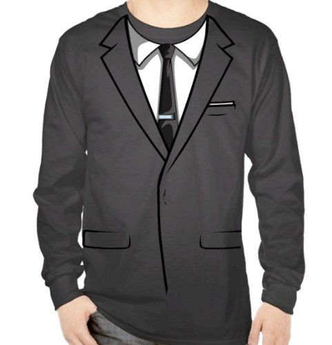 FX's Archer Tuxedo Shirt Large (Secret Agent Tuxedo Adult Mens Costume)