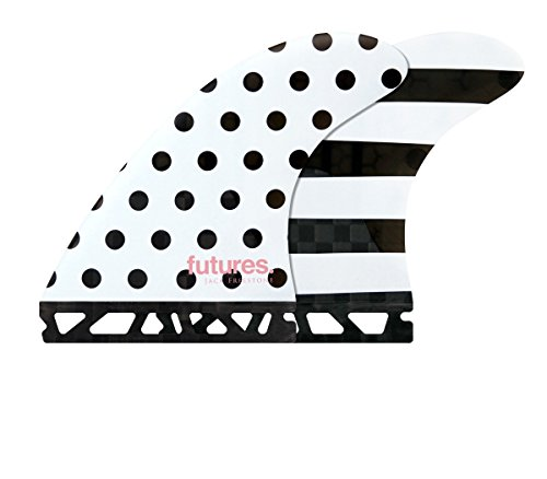Future Fins Jack Freestone-1 V2 Generation Thruster Set, Black Polka/White Stripes by Future