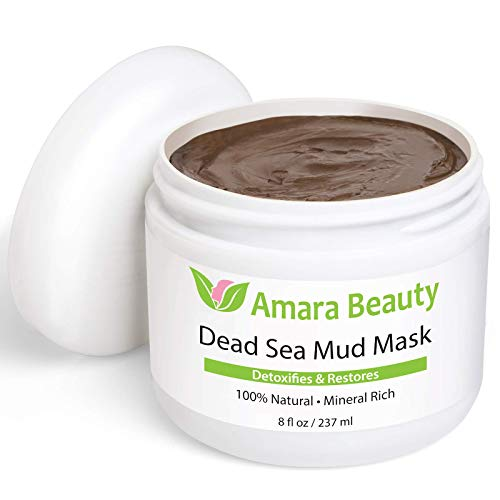 (Dead Sea Mud Mask for Face & Body - Pure Mud with No Fillers Detoxifies & Restores Healthy Skin - 8 oz.)