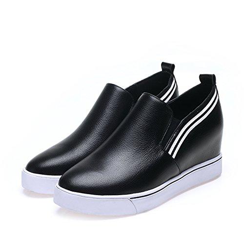 Zapatos ocasionales de las mujeres/Zapatos de aumento de altura/Mocasín/Plano puntiagudos zapatos A