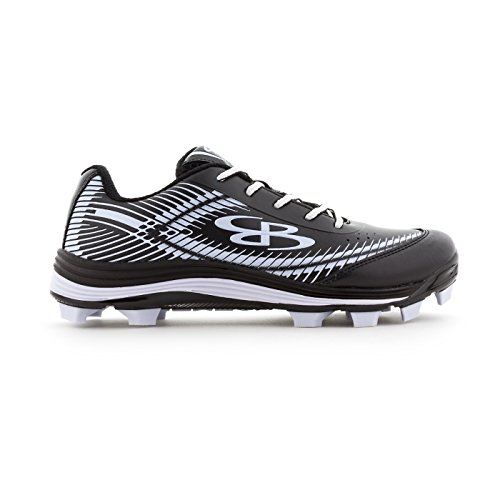 Boombah Women's Frenzy Molded Cleats Black/White - Size 8.5