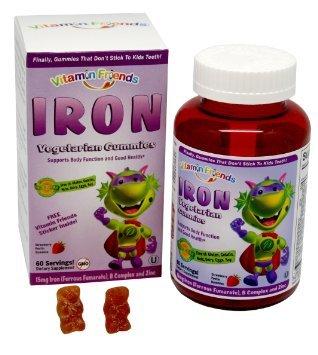 Vitamin Friends Iron Diet Supplement, 60 Count (Pack of 3) , Vitamin-rhgj by Vitamin Friends