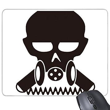 Contaminación bioquímicos arma Cyborg Gas Máscara silueta patrón Rectángulo antideslizante de goma Mousepad ratón juego almohadilla