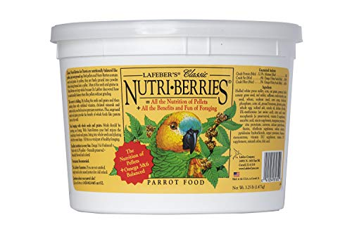 (LAFEBER'S Classic Nutri-Berries Pet Bird Food, Made with Non-GMO and Human-Grade Ingredients, for Parrots, 3.25 lbs)