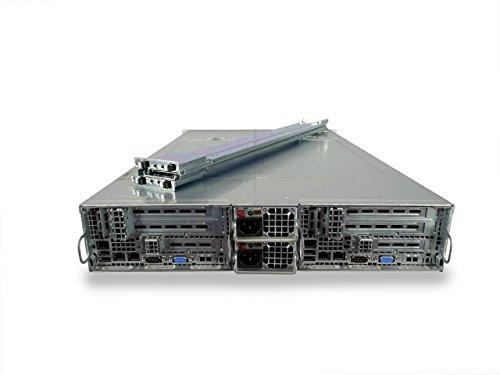 Supermicro SuperServer 6026TT-HDTRF 2-Node 12-Bay LFF 2U Server, 4X X5675 3.06GHz 6C, 16GB DDR3, 12x Trays Included, Onboard RAID, 2X 1400W PSUs, Rails (Renewed)