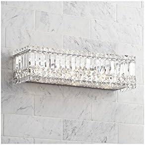 Modern Wall Light Cut Crystal Columns 23 Vanity Fixture for Bathroom Over Mirror – Possini Euro Design