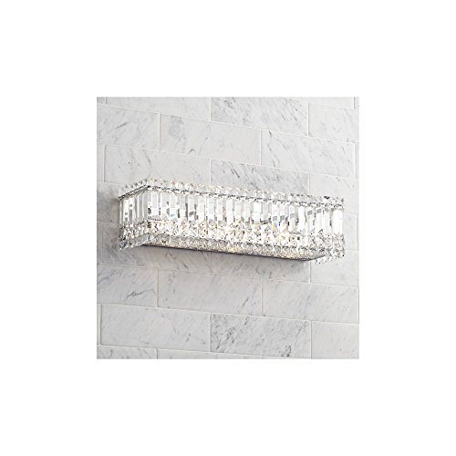 Modern Wall Light Cut Crystal Columns 23 Vanity Fixture for Bathroom Over Mirror – Possini Euro Design