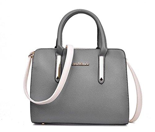 NVBAO Femmina borsa monospalla borsa Messenger Bag borsa pu in pelle tempo libero litchi grano shopping lavoro Turismo 5 colori, grey grey