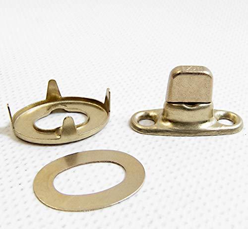 Turn Button Fastener, Eyelet & Stud, Curtain Fastener, Gilt Brass, 20 Pc.