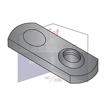 Steel Multiple Projection Style Quantity: 1000 10-24 Tab Weld Nuts Center Hole Plain Finish