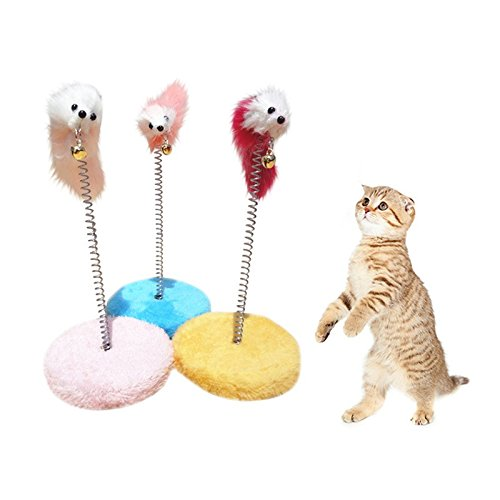 Best Quality cat Frame Spring Bells Scratching pad Posts Flying disc Scratch Board Mouse Ball Toy cat -