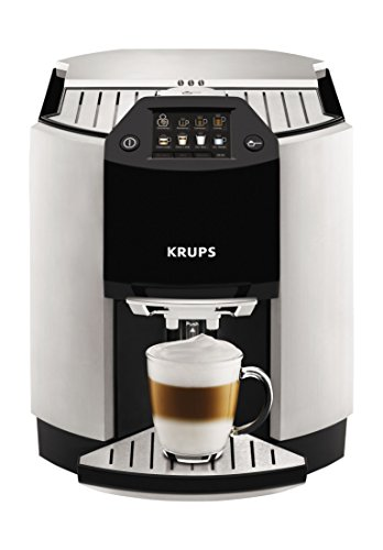 KRUPS EA9010 Fully Auto Cappuccino Machine Espresso Maker, Automatic Rinsing, Two Step Milk Frothing Technology, 57 Ounce, Silver