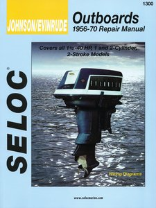 Seloc - Johnson Evinrude Outboard Repair Manual 1-3 Cylinder, 2 Stroke - 1301-IB (Evinrude Outboard Diagrams)