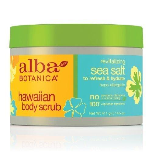 Alba Botanica Natural Hawaiian Body Scrub Sea salt, 14.5 oz (2 pack) ()