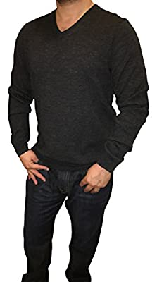 Calvin Klein Men's 100% Merino Wool Classic Fit Solid V-Neck Sweater