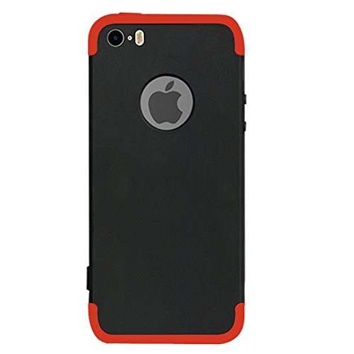 a7e93bf24cb Vorson 3 in 1 Double Dip Case All Angle 360 Protection Matte Hard Back Case  Anti Slip Super Slim Back Cover for Apple iPhone 5S